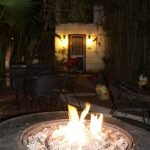 The Saint Francis Inn in St Augustine Florida firepit
