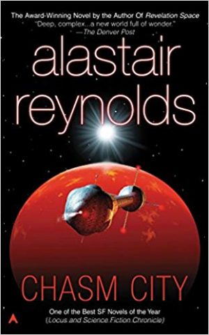 Inspirational books for writers Chasm City by Alastair Reynolds book cover