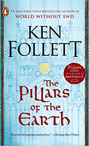 The Pillars of the Earth by Ken Follett book cover