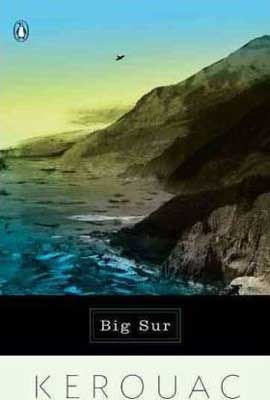 Big Sur by Jack Kerouac book cover with sea hitting a rocky cliff