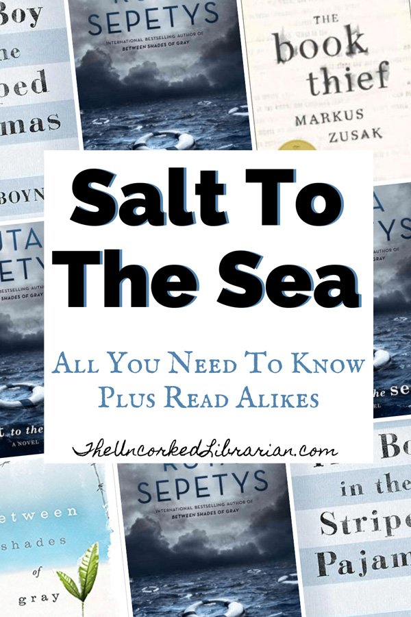 Salt To The Sea Book Review, Summary, and Characters Pinterest pin with book covers