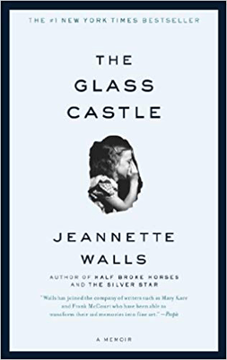 Books Set in West Virginia, The Glass Castle by Jeannette Walls, book cover with young girl with curly hair whispering