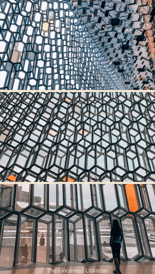 One Day In Reykjavik Harpa Concert Hall prisms in collage