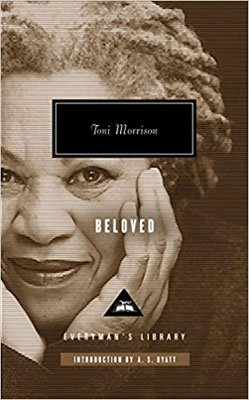 Best Books Set in Kentucky, Beloved by Toni Morrison, book cover with portrait of Toni Morrison