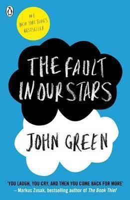 Best Books Set In Each State, Books Set in Indiana, The Fault In Our Stars by John Green, blue book cover with black and white cloud