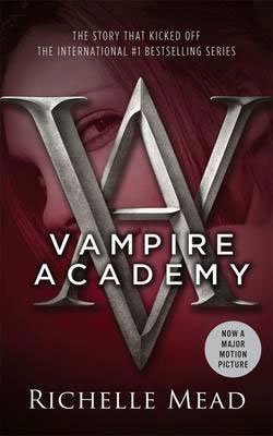 50 States Reading List books set in Montana, Vampire Academy by Richelle Mead, with headshot of a young girl against a red cover