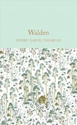 Walden by Henry David Thoreau book cover with forest and house set in the middle