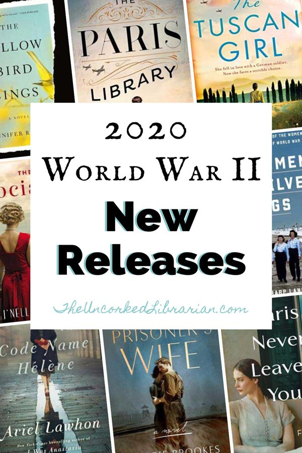 2020 World War 2 New Book Releases Pinterest pin with book covers