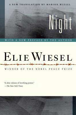 Holocaust books for high school Night by Elie Wiesel book cover with wire fence