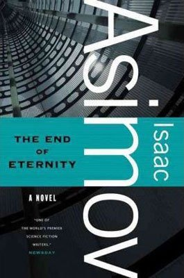 The End of Eternity by Issac Asimov book cover with turquoise strip