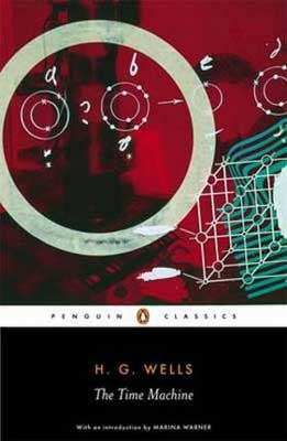 Classic Time Travel novels The Time Machine by H.G. Wells book cover with shapes