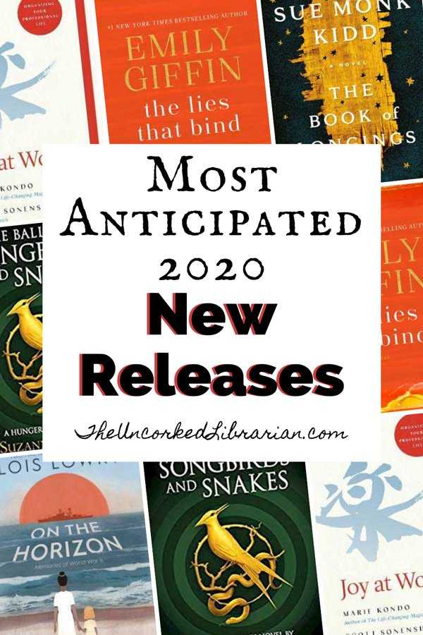 2020 New and Upcoming Book Releases Pinterest Pin with book covers
