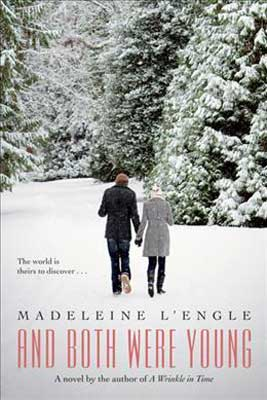 And Both Were Young by Madeleine L'Engle book cover with couple holding hands and walking through the snow