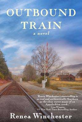 Outbound Train by Renea Winchester book cover with empty train tracks