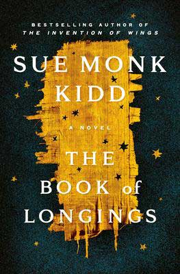 The Book Of Longings by Sue Monk Kidd book cover with gold stars