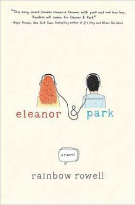Books Set In Nebraska, Eleanor and Park by Rainbow Rowell, book cover with teenage red headed girl listening to music next to an Asian teenage boy