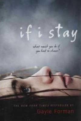 50 States Books Reading list, If I Stay by Gayle Forman, book cover with brunette girl's face laying down and looking up blankly