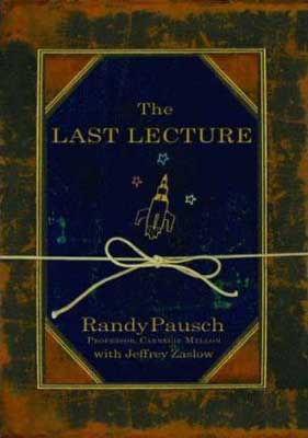 Books Set In Every State Pennsylvania, The Last Lecture by Randy Pausch, book cover with rocket skip doodle with stars