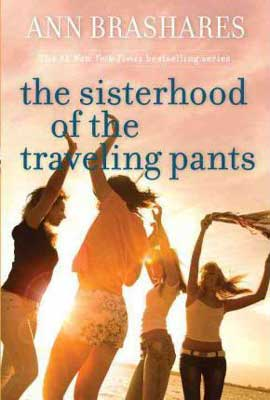 Books Set In Maryland, The Sisterhood Of The Traveling Pants by Ann Brashares, book cover with four teenage women dancing on a field