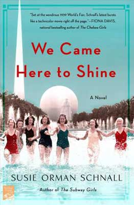 We Came Here To Shine by Susie Orman Schnall book cover with women in bathing suits holding hands