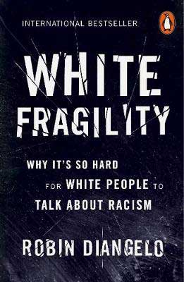 White Fragility by Robin DiAngelo black book cover with no images